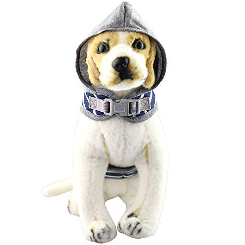 Bolbove Stripe Vest Leash Hood for Cats Dogs