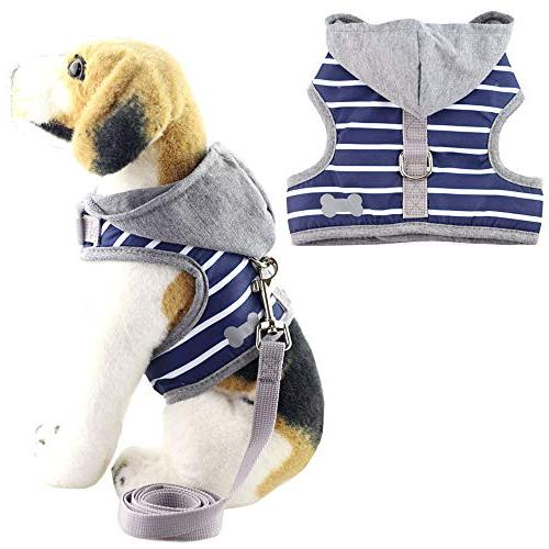 soft pet bone stripe vest