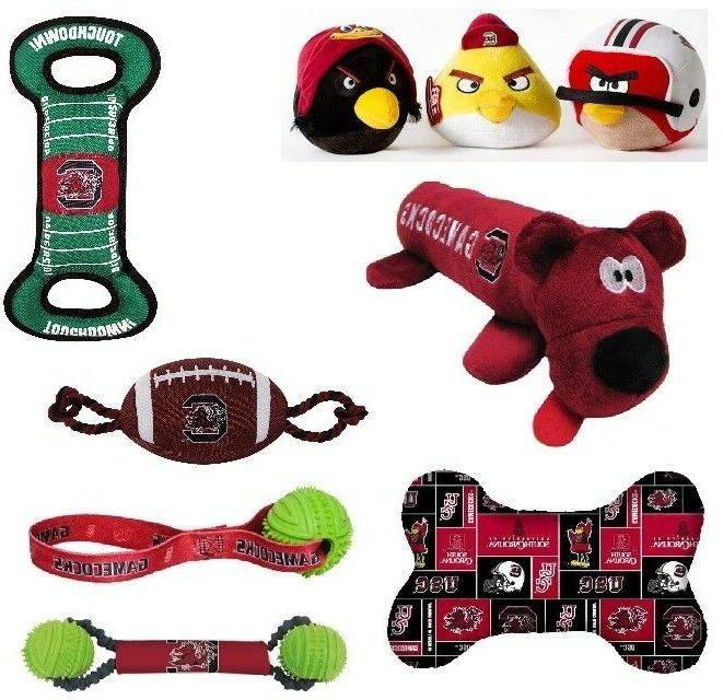 south carolina gamecocks ncaa dog toys angry