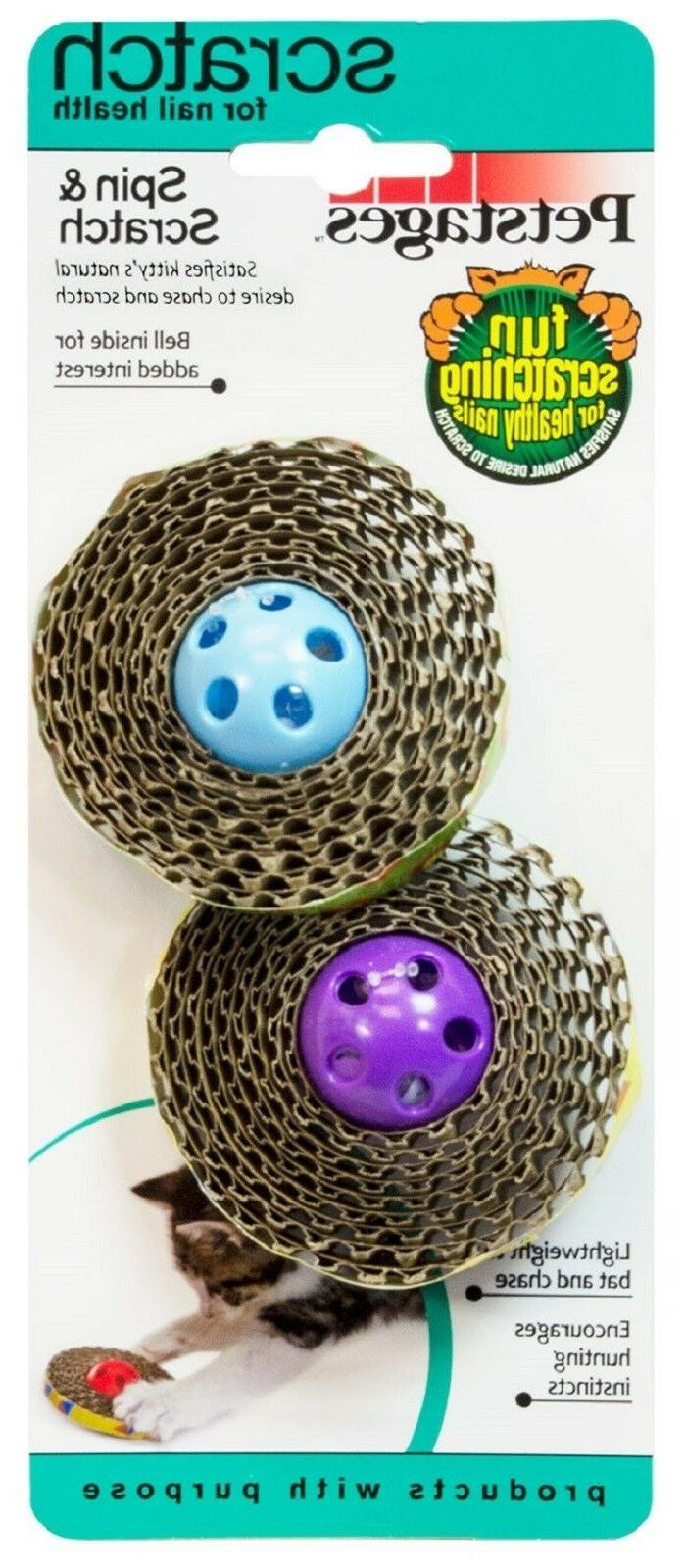 Petstages Spin and Scratch Toy for Cats Multi-Colored
