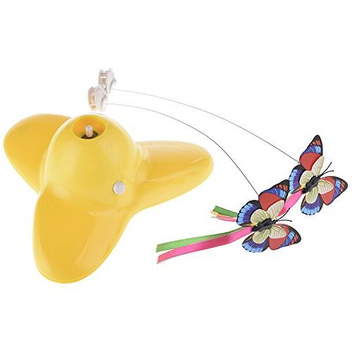 spinning interactive butterfly cat toy