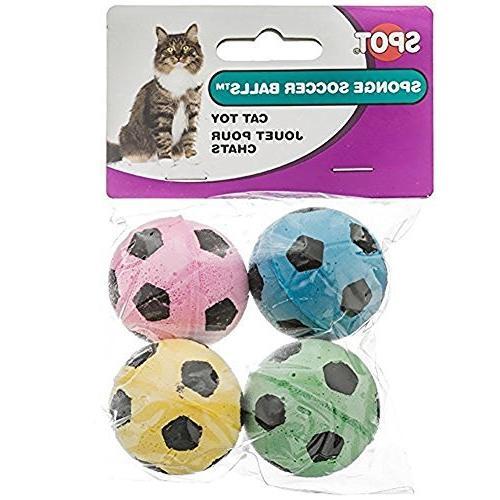 sponge soccer balls cat toy