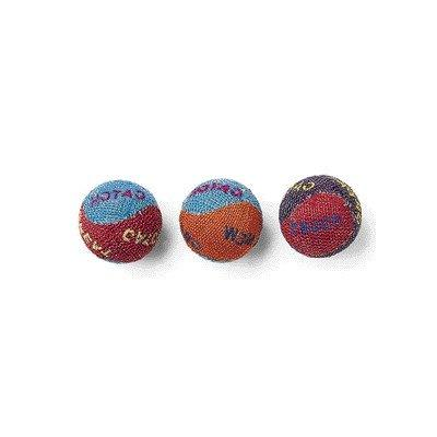 Spot Ethical Colored Burlap Balls Cat Toy 3 per pack