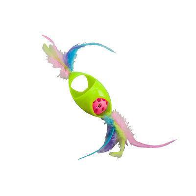 spot tie dye jingle roller cat toy