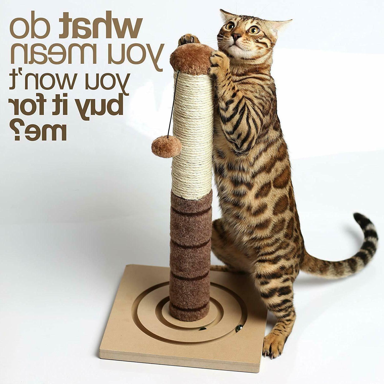 Tall Scratching Post Cat Toys Cat Scratch Kittens