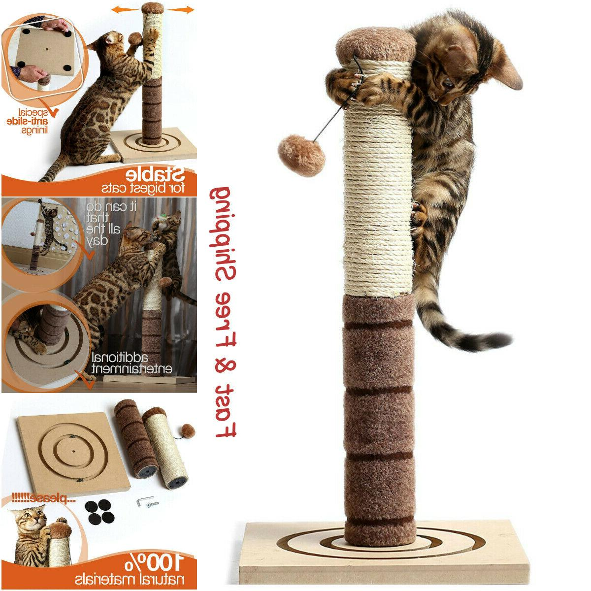 tall cat scratching post cat interactive toys
