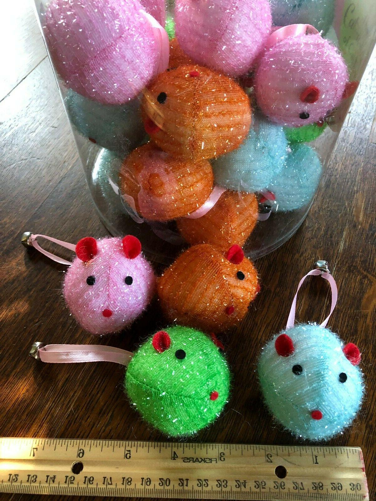 tinsel mice w bell cat toys lots