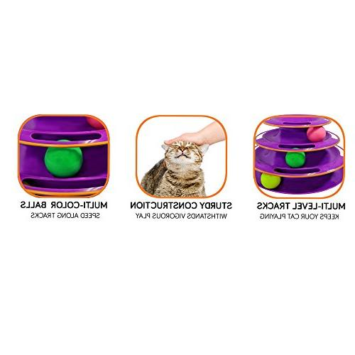Purrfect - Safer Design, Toy, Exerciser Game, Teaser, Anti-Slip, Suitable Multiple Cats