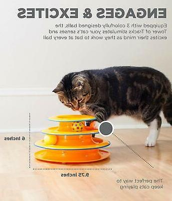 Toy for Cats Tower of Tracks Ball Interactive, Fun Cat Game