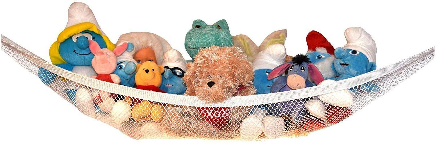 toy storage net for stuffed animals top