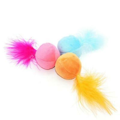 Toys Cat Teaser Color Ball Feather