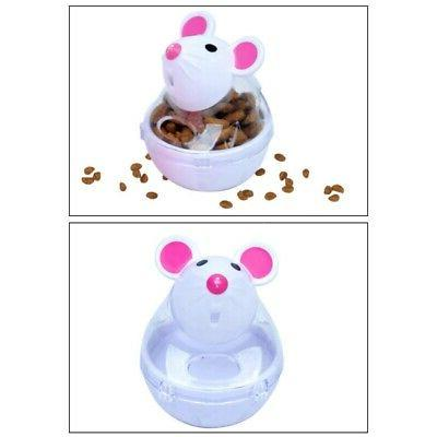 Transparent Tank Cat Food Dispenser Spinning Interactive