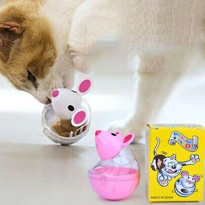 Transparent Storage Tank Cat Food Dispenser Treat Pets Spinn