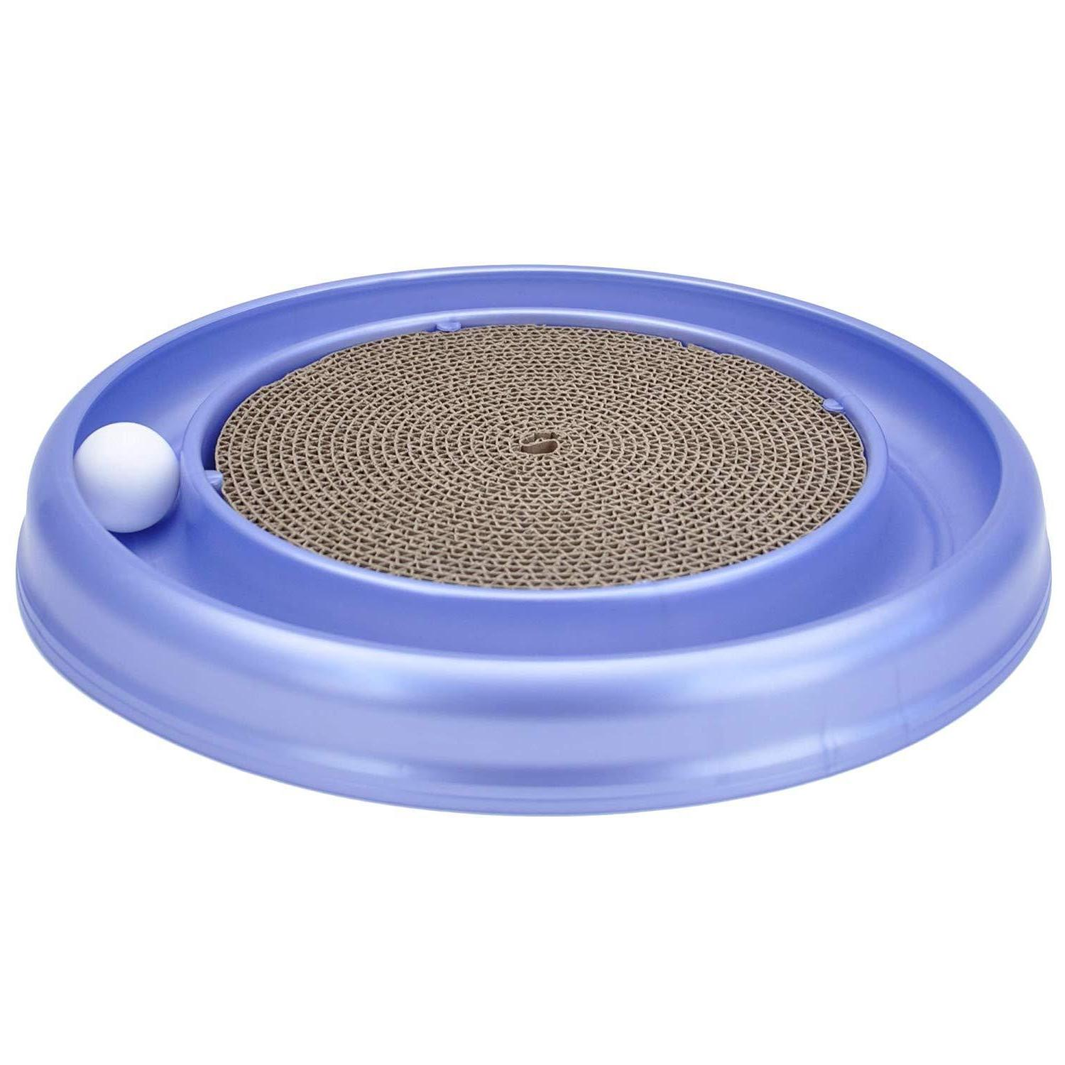 turbo scratcher cat toy with 1 ball