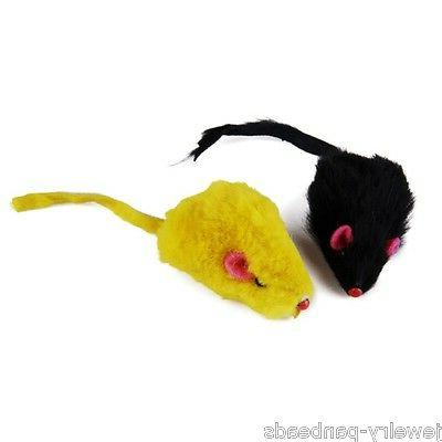 US Pet Rabbit Fur Toys False Kitten Cat Mini Playing Toys