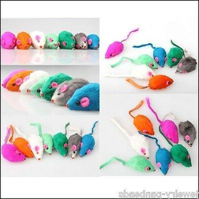 US Pet Rabbit Fur Kitten Funny Playing Toys