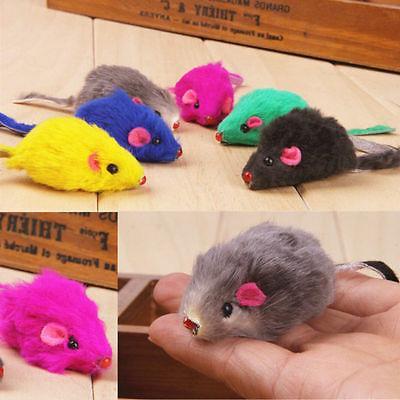 US 10pcs/set Pet Fur Toys False Mouse Playing Toys