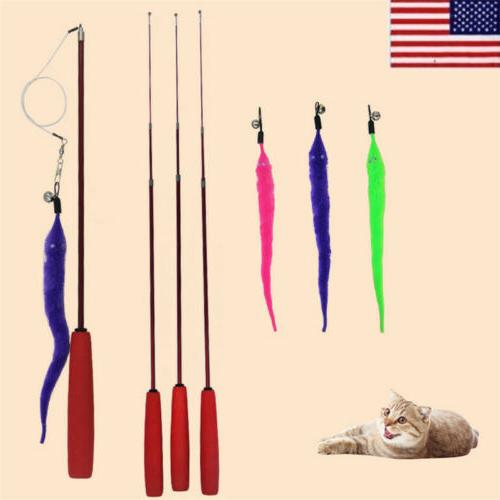 us funny cute cat toys plastic rod