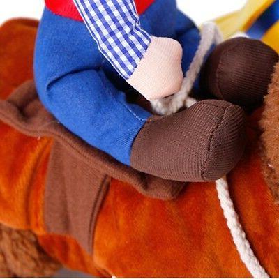 US Puppy Cowboy Dog Coat Clothes Party Costume Dress Up