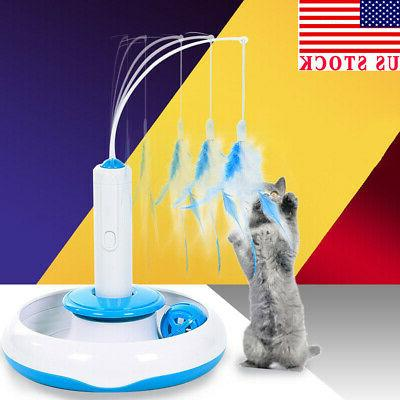 usa feather teaser cat toy multifunction electric