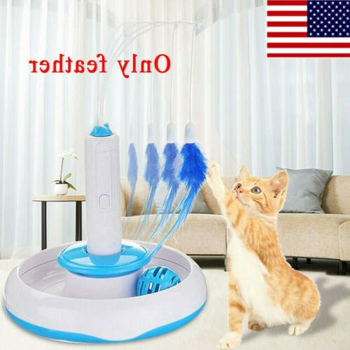USA Feather Teaser Cat Toy Multifunction Pet
