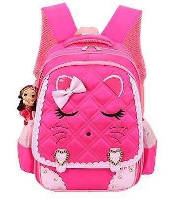 waterproof school girls backpack kids bookbag
