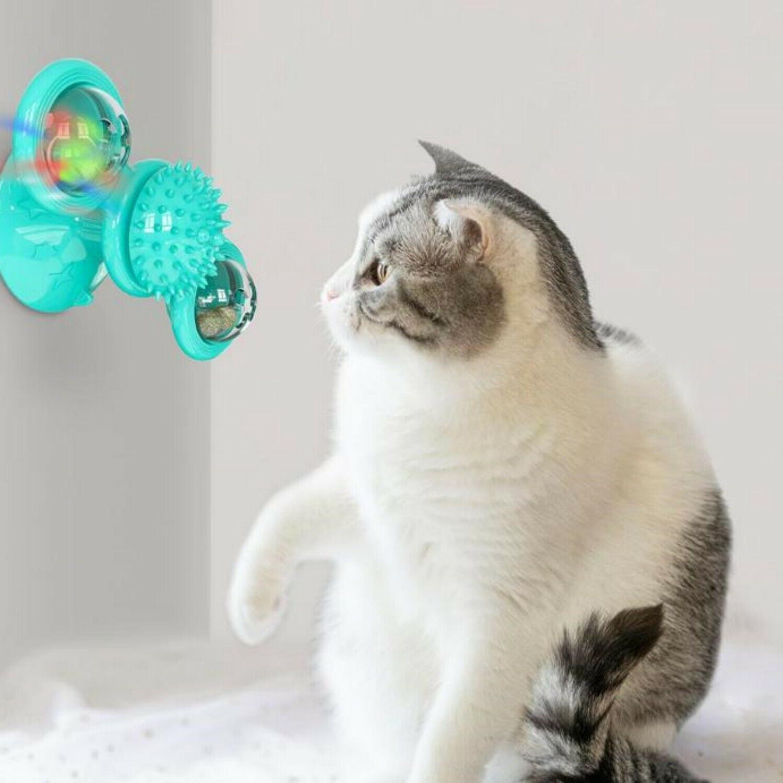 windmill cat toys fidget spinner for kitten