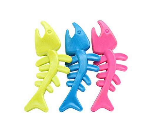 winiwn,Lovely Fish Shaped TPR Rubber Chew Toys for Pet Dogs