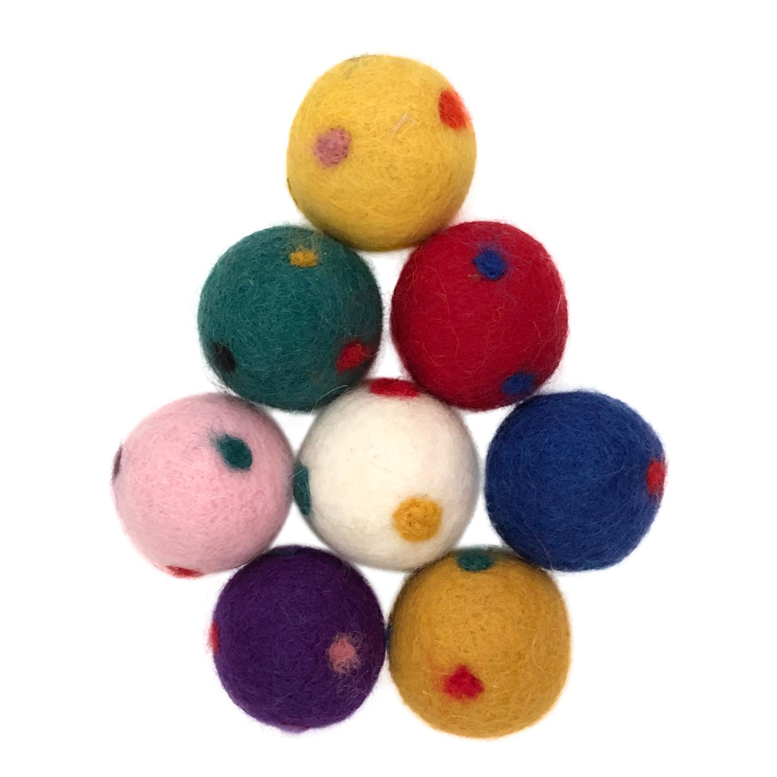 Wool Cat Toys, Eco Friendly Safe for All Animals, Polky Design