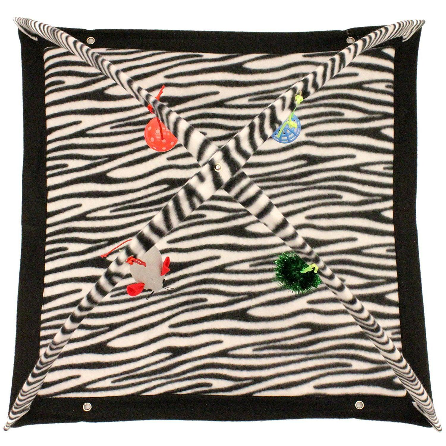 Zebra Tent with Pet Kitty NEW
