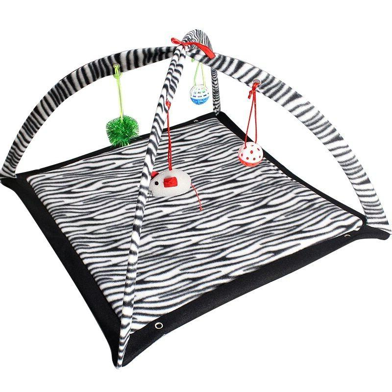 Zebra Tent Dangle Toys Pet Interactive NEW