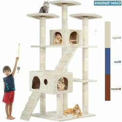 Large big Cat Tree Scratcher Play House post tower Condo Fur