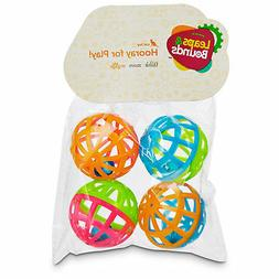 Petco Lattice Ball and Bell Cat Toys, Pack of 4 balls