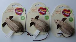 Leaps & Bounds Three Fun Faux Leather Mouse Cat Toys with Ra