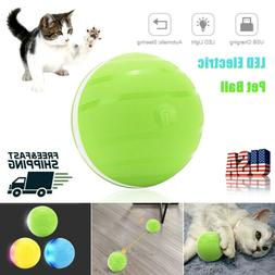 LED Pet Dog Cat Wicked Ball Electric Rolling Flash Jumping W