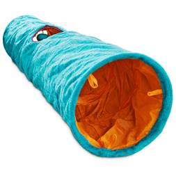 "Leaps & Bounds Crinkle Cat Tunnel, 36"" L X 10"" W, Brown"