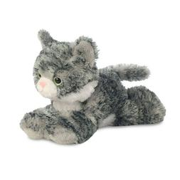 "Aurora Lily Grey Tabby Cat 8"" Flopsie Plush Floppy Stuffed A"