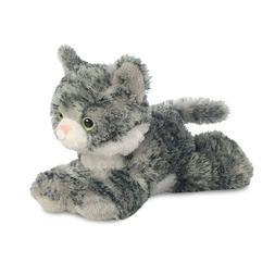"""Aurora Lily Grey Tabby Cat 8"""" Flopsie Plush Floppy Stuffed A"""