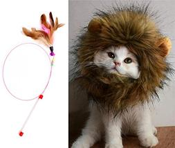Lion Mane Wig for Dog and Cat Costume Pet Adjustable Washabl