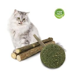 PetiJoy Lollipop Cat Catnip Toys Molar Stick, Organic Catnip