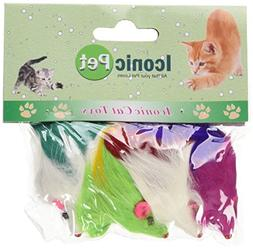 Iconic Pet 24 Pieces Colored Long Hair Fur Mice , Assorted