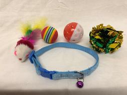 *LOT* Cat Collar and 4 Cat Toys Multiple Colors Available Ca