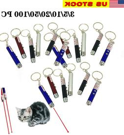 Lot of 3-100 Pack Laser Tease Cat Dog Toy, 2 in 1 Flashlight