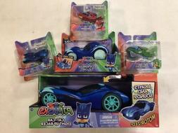 LOT of 5 PJ Masks Toys Cat-Car Light Up Racer Rev-N-Rumbler