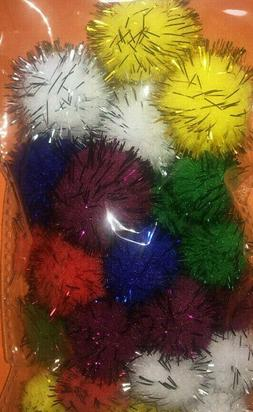 Lot of 6-packs of 25 Cat Toys Tinsel Balls Kids Crafts: Ship
