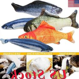 lovely artificial fish plush pet cat puppy