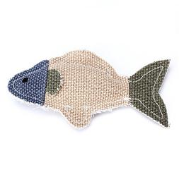 Stock Show 1Pc Lovely Linen Fish Shape Pet Fetch/Chew/Play S