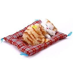 Toonol Lovely Simulation Animal Doll Plush Sleeping Cats wit