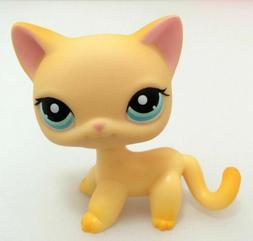 LPS 339 Littlest Pet Shop Yellow Short Hair Cat Kitty Kids G
