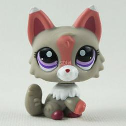 LPS Collection Animal Toys #1921 Gray Pink Wolf Dog Fox Cat